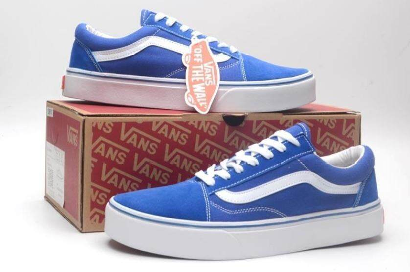 Vance_Classic Canvas Skateboard Shoes Student Fashion Casual Shoes Old Skool Style Vance(blue ) giá rẻ