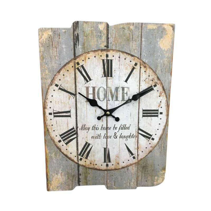Square Rustic Wooden Clock Farmhouse