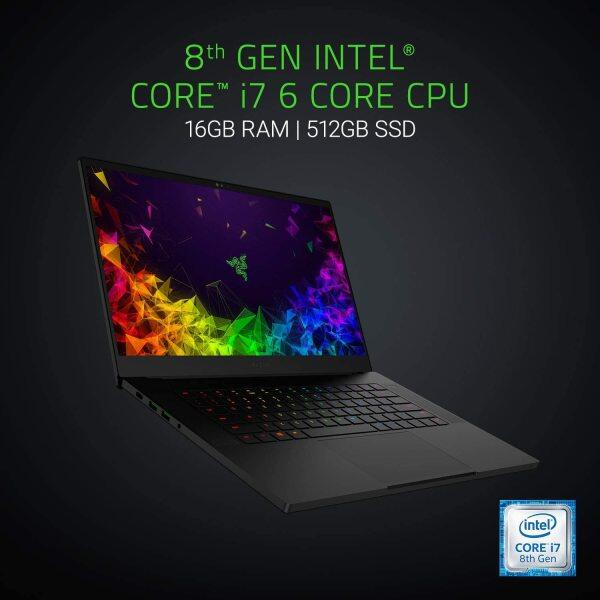 Razer Blade 15 Gaming Laptop - Intel Core i7-8750H 6 Core, GeForce RTX 2060, 15.6 FHD 144Hz, 16GB RAM, 512GB SSD, Chroma RGB Keyboard, Thunderbolt 3, 0.70 thin, CNC Aluminum Malaysia