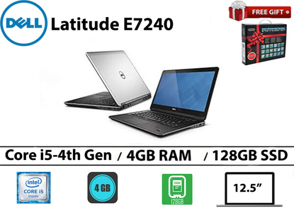 Dell latitude E7240 Core i5-4th gen 4GB RAM 128GB SSD 12.5 Inch Malaysia