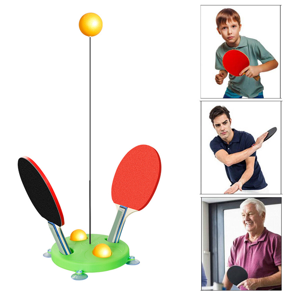 Bảng giá PLsport ( 2 Racket , 3 Balls ) Portable Table Tennis Trainer Table Tennis Soft Shaft Training Machine Elasticity Kid Adult Ping Pong Practice Trainer