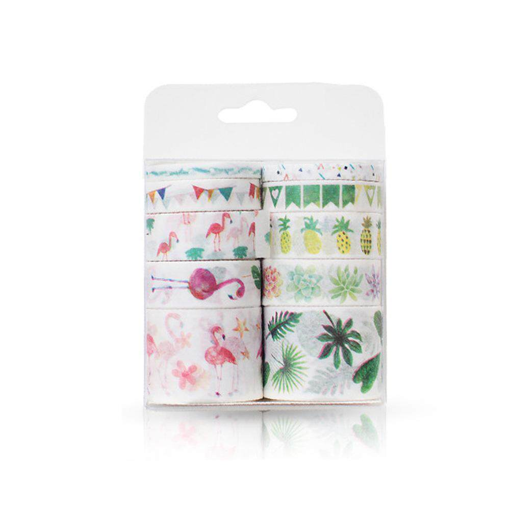 Nicetoempty 10 Rolls Washi กระดาษกาวชุดกลีบดอกไม้สัตว์กระดาษ Instagram สติกเกอร์สไตล์เทปมาส์คหน้าญี่ปุ่นเทปกระดาษญี่ปุ่น Diy สติ๊กเกอร์ตกแต่ง By Nicetoempty.