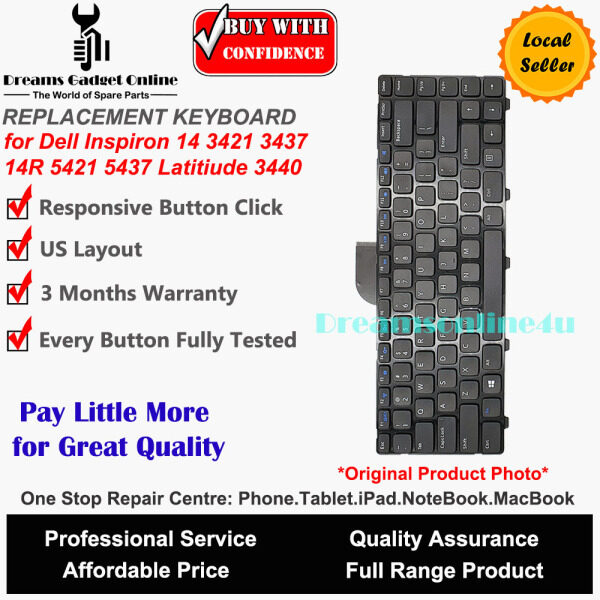 Replacement Notebook Keyboard for Dell Inspiron 14 14R 3421 5421 5437 Vostro 2421 3421 Latitude 3440 Malaysia
