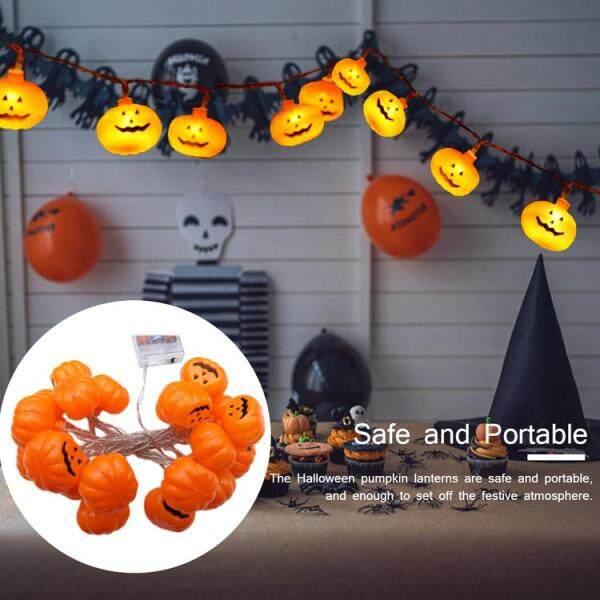 Halloween Đèn LED Xách Tay Dễ Thương Chuỗi Bí Ngô Trang Trí