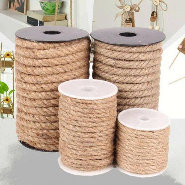 10 Meters Decorating Strong Gardening Ribbon Wedding Twine Party Decor Thick Vintage DIY for Craft Jute Rope Cord String