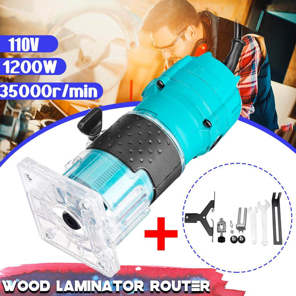 110V 1200W 35000r/min Electric Hand Trimmer Wood Laminator Router Edge Joiners