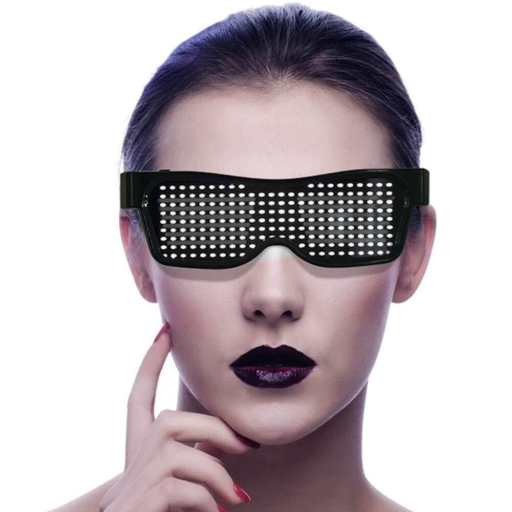 Giá GloryStar Mắt Kính Bluetooth Đèn Led Lên Ứng Dụng Điều Khiển TỰ LÀM Nhấp Nháy Mắt Kính Hiển Thị Tin Nhắn Hoạt Hình Bản Vẽ cho Đảng Buổi Hòa Nhạc Thanh Rave Lễ Hội