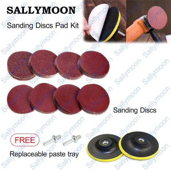 MOON Sanding Discs Pad Kit 57PCS Sandpaper Hook Loop Mix Grit Sanding Pad Polishing Pad Sandpaper for Metal/Wood/Marble/Glass/Jade Polishing Nice DIY Tools[In Stock&Fast Shipping]