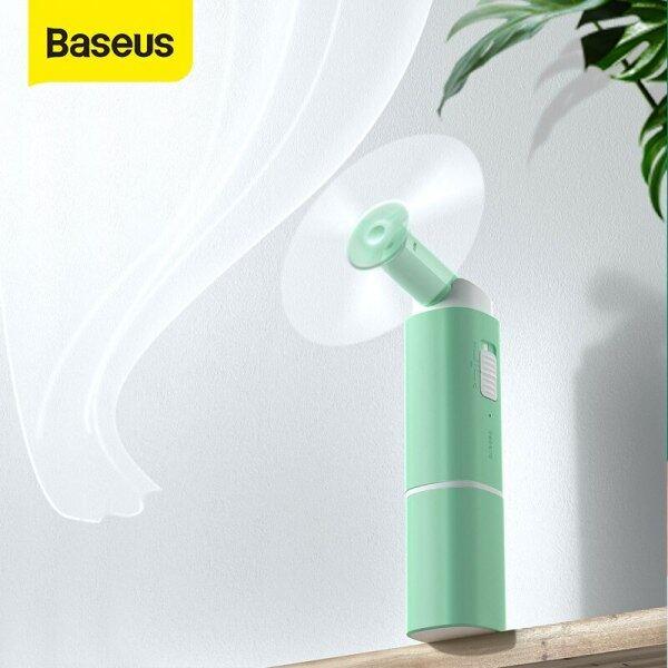 Baseus Portable Folding Usb Fan Mini Cooling Fan Rechargeable 2 Speed Usb Cooler Fan Emergency Cooling fan
