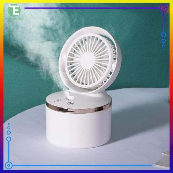 Mini Wireless USB Rechargeable Fan Mist Spray Fan Instant Cooling Home Office Cooling Supplies Singapore