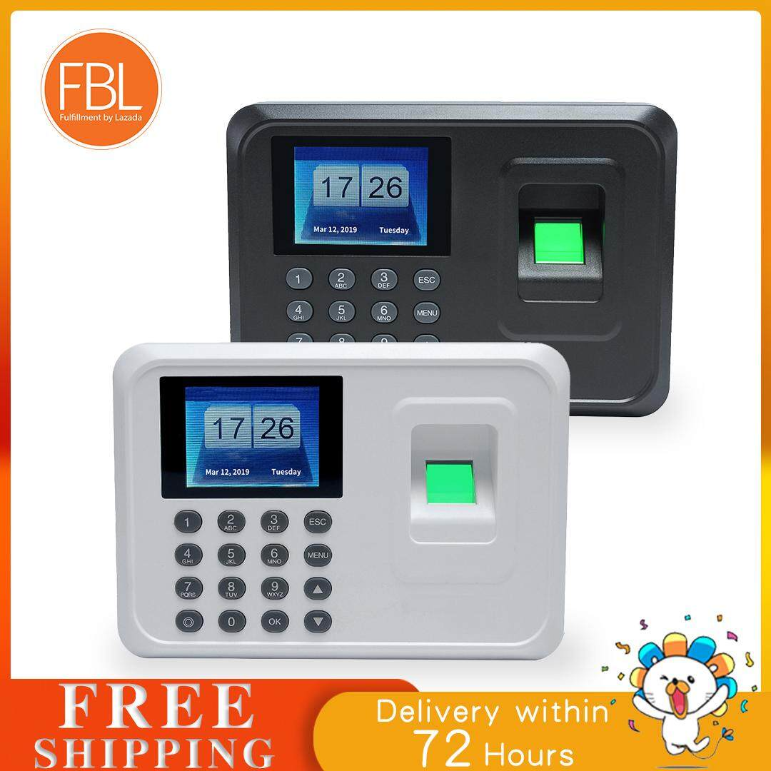 (free Shipping Fee) Intelligent Biometric Fingerprint Password Attendance Machine Employee Checking-In Recorder 2.4 Inch Tft Lcd Screen Dc 5v Time Attendance Clock By Tomtop.