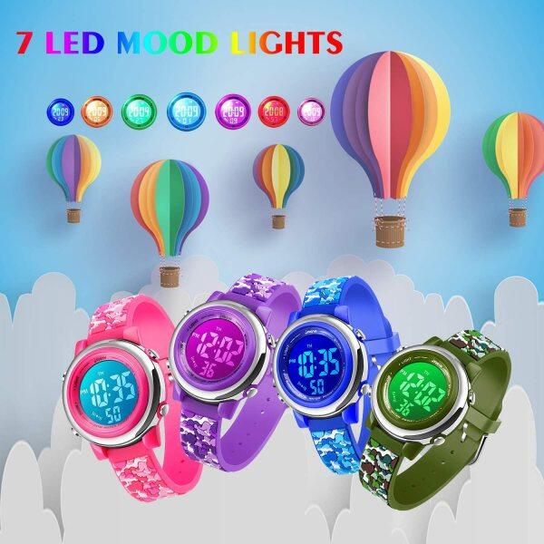 Led Watch for Kids Sport Waterproof Watch for Girls Boys, Kid Sports Outdoor LED Light Unicorn Watches with Luminous Alarm Stopwatch Child Wristwatch Malaysia