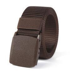 Thắt Lưng kiểu dáng quân sự có khóa điều chỉnh đai thắt màu đen chất liệu da thật – INTL