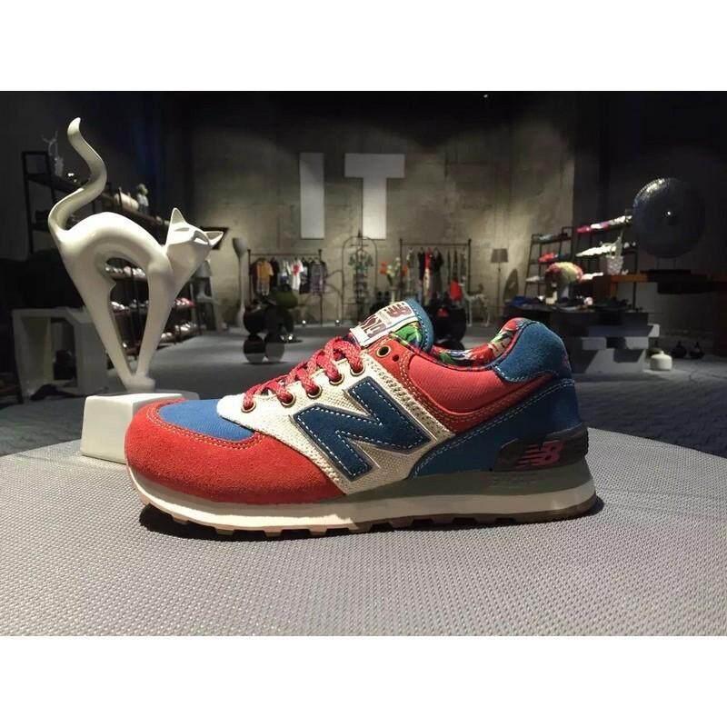 ยี่ห้อนี้ดีไหม  กรุงเทพมหานคร สบายๆ NEW BALANCE/NB ML574OHR ผู้ชายกีฬารองเท้ารองเท้าผู้หญิงวิ่งสีแดงสีฟ้า