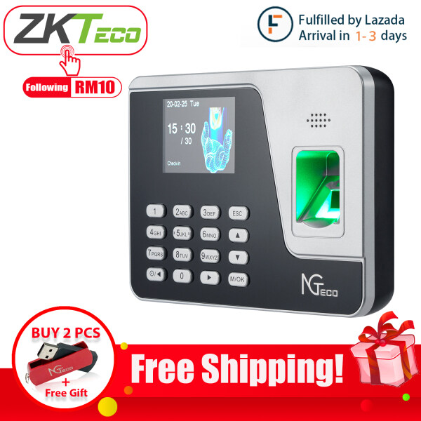 (Fulfilled by Lazada)ZKTeco Fingerprint Attendance Machine Face Recognition Clock Recorder Reader AS10/AFace10