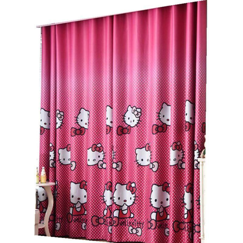 KANG Home Decor Hello Kitty Curtain Blackout Window Curtain for Bedroom Langsir