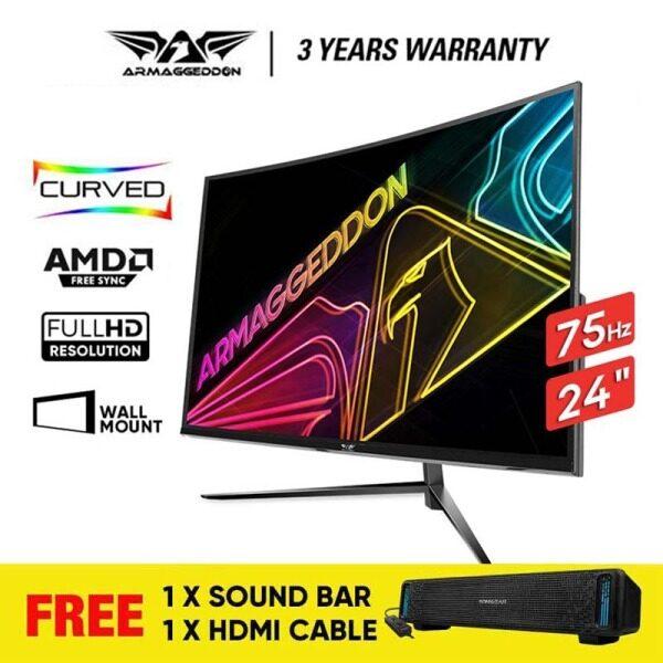 Armaggeddon Pixxel+ Pro PC24HD SUPER Gaming Monitor | 24 | 1920 x 1080 | 75Hz | 5Ms | Free Soundbar Malaysia