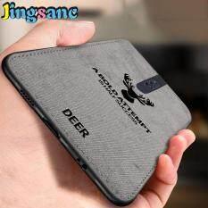 Jingsanc Dành Cho OPPO F11 Pro Siêu Mỏng Lai TPU Lót Vải Chất Liệu Vải bố Sọc Nai Sừng Tấm Hoa Văn Thiết Kế Ốp Lưng Điện Thoại Nắp