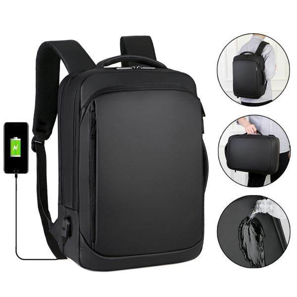 OrzBuy Laptop Backpack, Water Resistant Business Briefcase For 15.6Inch Laptop Large Capacity College School Backpack With USB Charging Port Laptop Bag For Teens Men