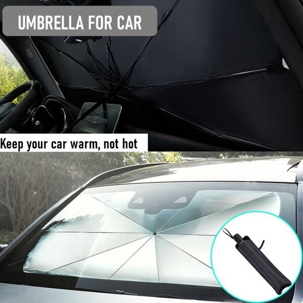 Car Parasol Auto Front Windshield Sun Shade UV Rays and Heat Sun Visor Protector Fold-able Reflector Umbrella