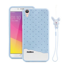 Fabitoo Cute ice cream silicone back cover case For OPPO R9 With lanyard