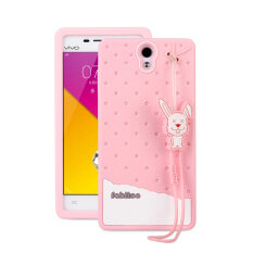 Fabitoo Cute ice cream silicone back cover case For Vivo Y33 With lanyard -Green ColorMYR39