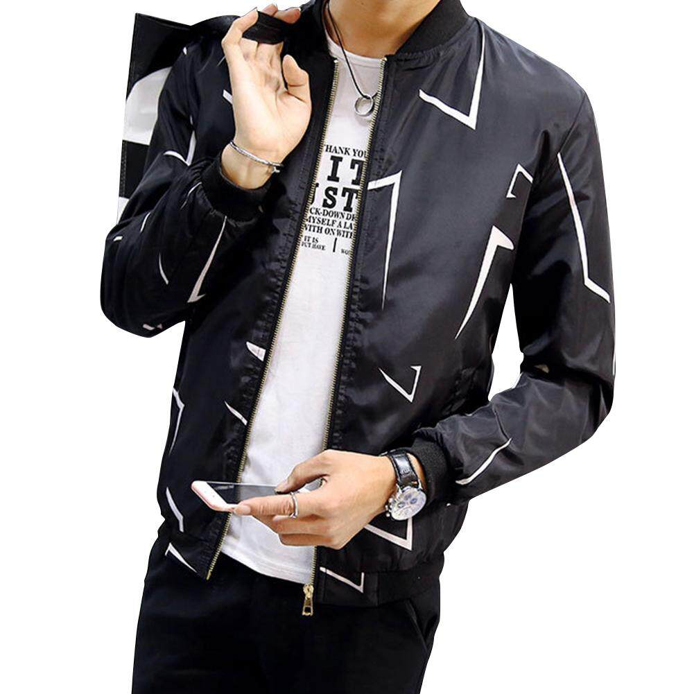Rd Men Zipper Casual Camouflage Floral Pattern Slim Coat Jacket By Redcolourful.