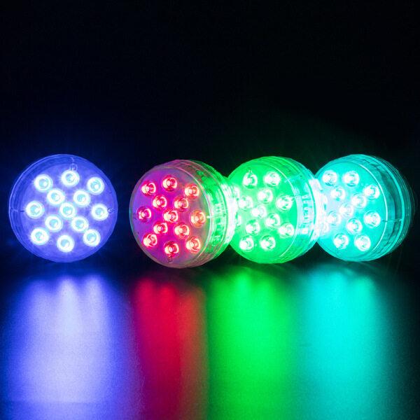 2 Đèn LED 13 Bóng Đèn Led 16 Màu Có Điều Khiển Từ Xa RF, Đèn Hồ Bơi Cho Bể Bơi Mặt Đất Với Giác Hút Nam Châm, Đèn LED Hoạt Động Bằng Pin Cho Bể Bơi, Bồn Tắm, Tiệc Tùng