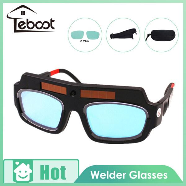 TeBoot Welding Tools Eyes Protection Welding Goggles Solar Powered Auto Darkening Welding Eyewear Professional Welder Glasses Arc