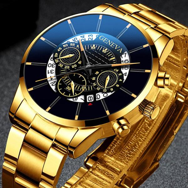 Jam POSHI Fashion Men Watch Stainless Steel Calendar Quartz Wrist Watches for Man Business Casual Luminous Original Waterproof Jam Tangan Lelaki Malaysia