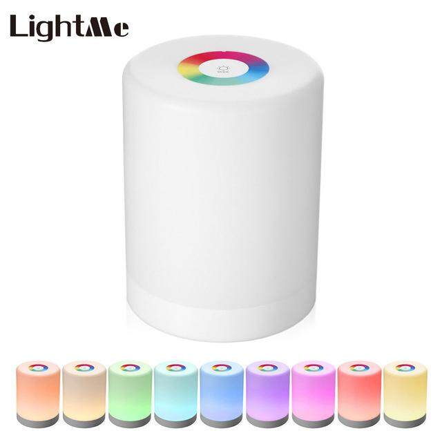 Lightme Intelligent Touch Bright Night Light Portable Hook LED Light Lamp Colorful Induction Dimmer for Table Light Lamp