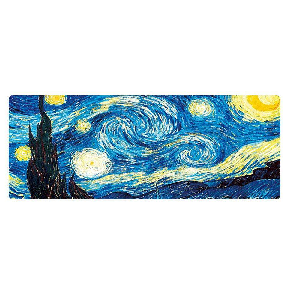 Crazy Sale Extra Large Mouse Pad Gaming Mousepad Anti-slipVan Gogh oil painting Mouse Mat Malaysia