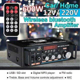 Bộ Khuếch Đại Âm Thanh Stereo HiFi Kỹ Thuật Số Bluetooth 600W Chính Hãng Nhà & Xe Hơi USB FM SD Mic thumbnail