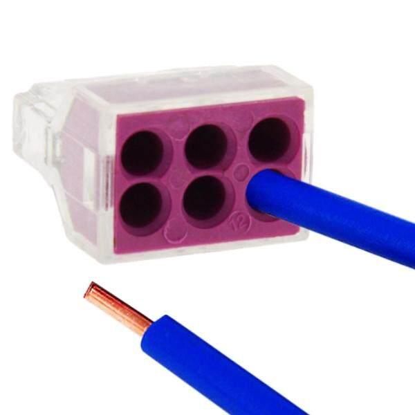 Bảng giá Chất lượng cao 10 cái 6 pin JUNCTION Box Push-in nối dây cho diện tích cắt 1-2.5 mét vuông millimet dây cứng Phong Vũ