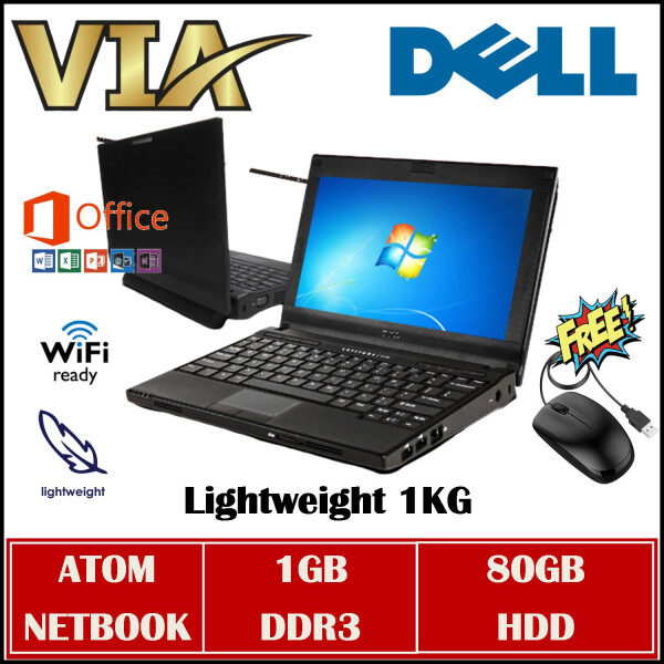 NETBOOK DELL LATITUDE 2120 ~ ATOM~1GB DDR3~80GB HDD~Windows 7~Wifi Ready~Office Installed Malaysia