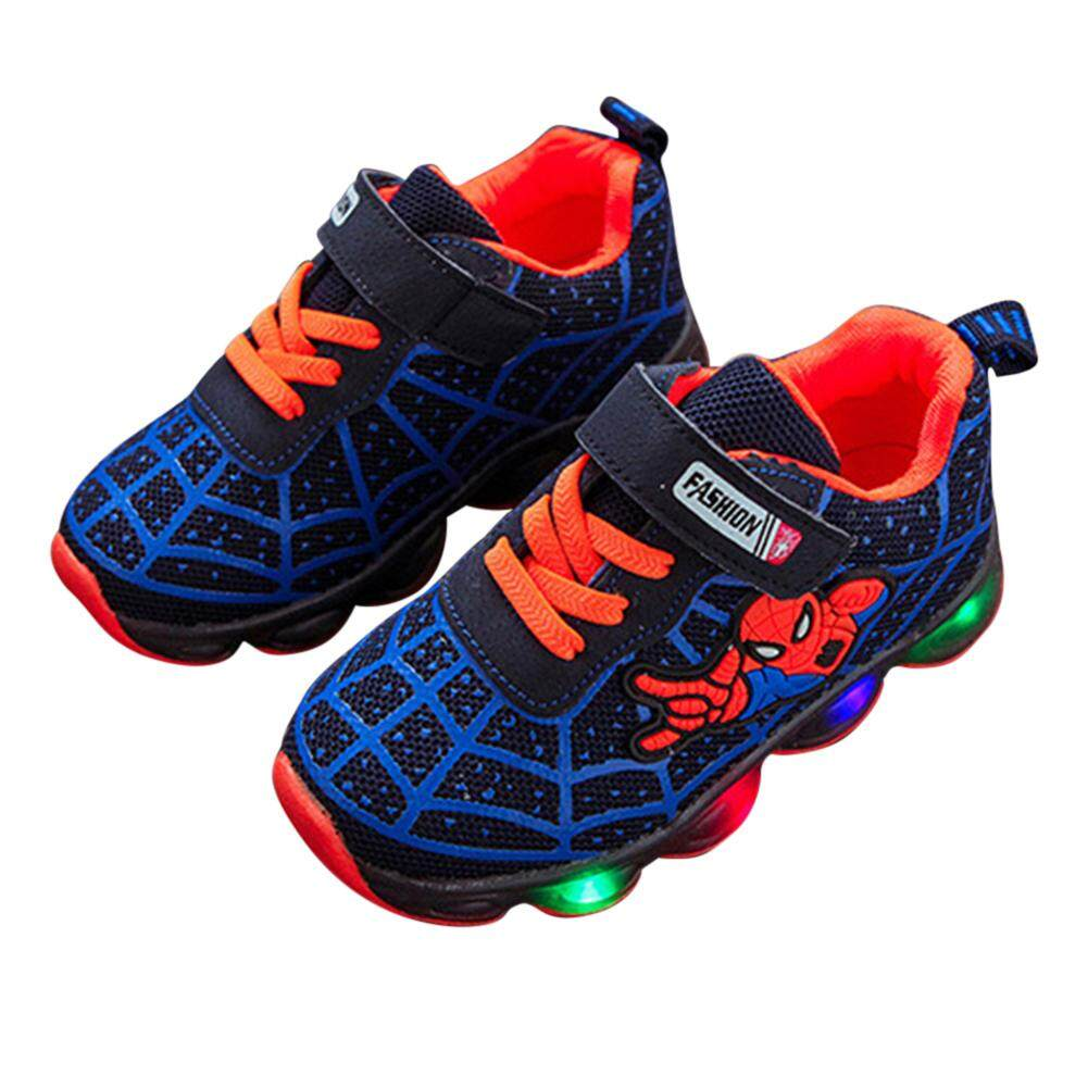 cc1568f9eafcf HuaX Fashion Shoes Cool Baby Girls Boys Casual Sports Shoes with LED  Luminous Kids Sneakers