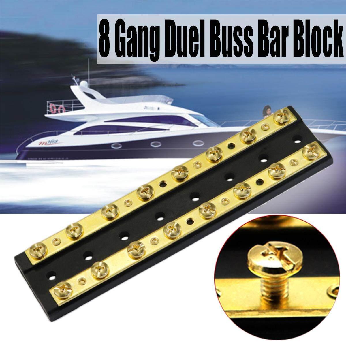 【free Shipping + Flash Deal】marine Boat Rv Brass 4 6 8 Gang Duel Buss Bar Block Positive & Negative (f3883-8p) By Paidbang.
