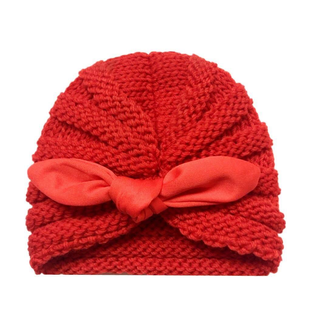 3949c9bddce1d 【Kidsroom】Hot Sale Newborn Baby Boy Girl Knitted Turban Knotted Hat Winter  Warm Beanie