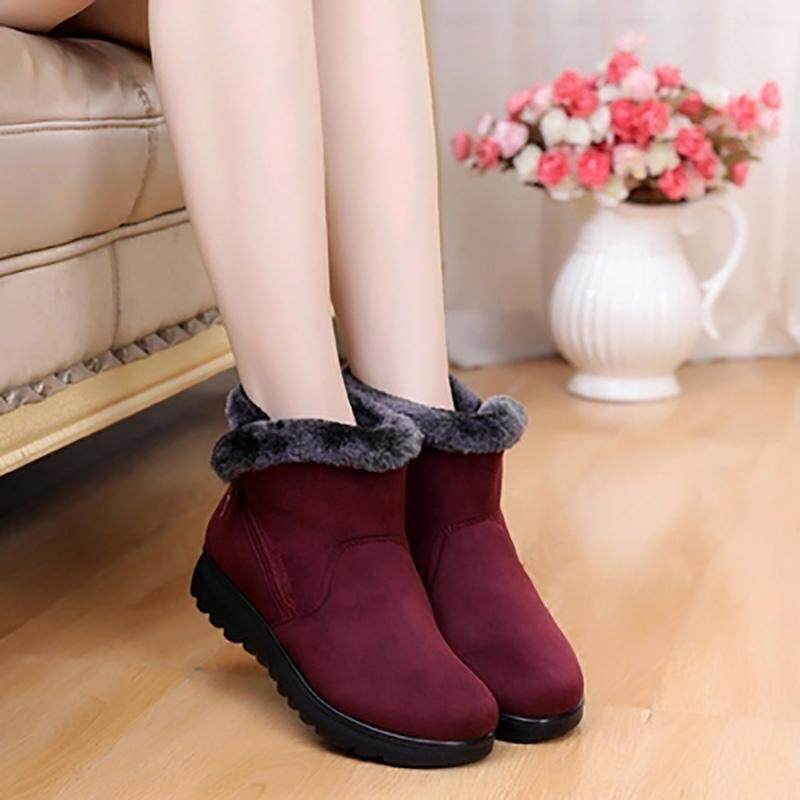 5c1aec9e15db9 【Winter Boots Helps U Travel Around the World】Female Fashion Zip Winter  Snow Boots