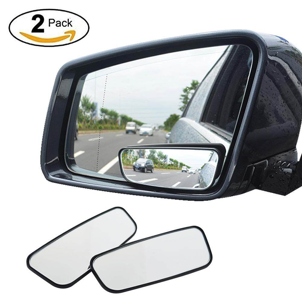 Outflety Blind Spot Mirror, 2 Pack Square Hd Glass No Blind Spot Mirror For All Universal Vehicles Car Side Convex Rear View Mirror Wide Angle Blind Spot Mirror Fit Stick-On Design By Outflety.