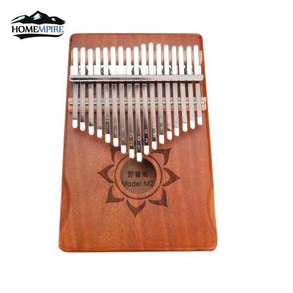 Homemire 17 Phím Kalimba Đàn Piano Ngón Tay Cái Gỗ Gụ Nhạc Cụ Gõ Ngón Tay Với Điều Chỉnh Công Cụ Tuner Lưu Trữ Túi