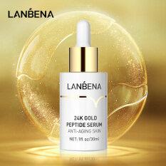 LANBENA 24K Gold Peptide Serum Anti-Aging Skin Firming Rejuvenate Refreshing And Not Greasy 30ml
