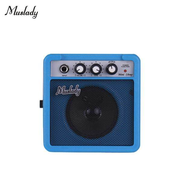 Muslady 5W Mini Guitar Amplifier Amp Speaker with 3.5mm & 6.35mm Inputs 1/4 Inch Output Supports Volume Tone Adjustment Overdrive Malaysia