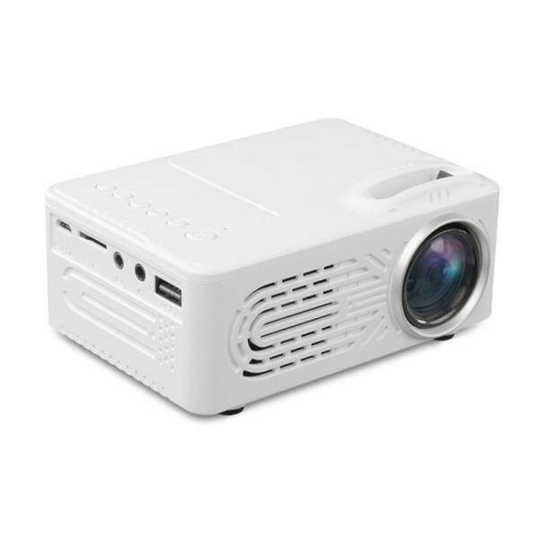 LEDMOMO 814 Full HD 1080P Mini LED Projector 1000:1 Ultra-high Contrast Home Theater Cinema Projector Built-in HiFi Stereo Speaker With EU Plug (White)