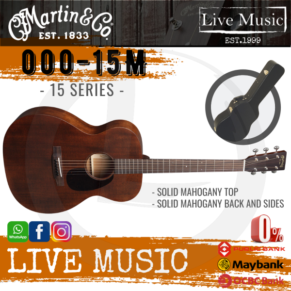 Martin 000-15M BURST (15 series ) Acoustic Guitar with 330 Hardshell Case (000 15M) Malaysia