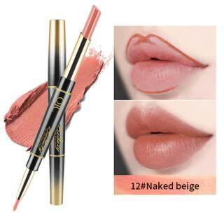 QIC 2 In 1 Tahan Lama Matte Tahan Air Lipliner Lipstik untuk Wanita thumbnail