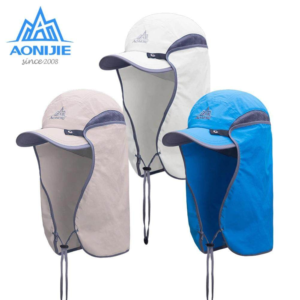75b9deafa6e AONIJIE E4089 Unisex Hat Sun Visor Cap Hat Outdoor UPF 50 Sun Protection  with Removable Flap