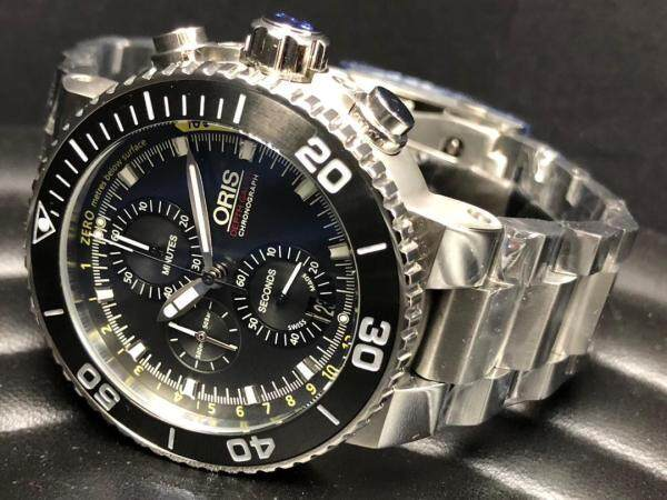 Mens Business Oris Sapphire Crystal Glass Stainless watch Malaysia
