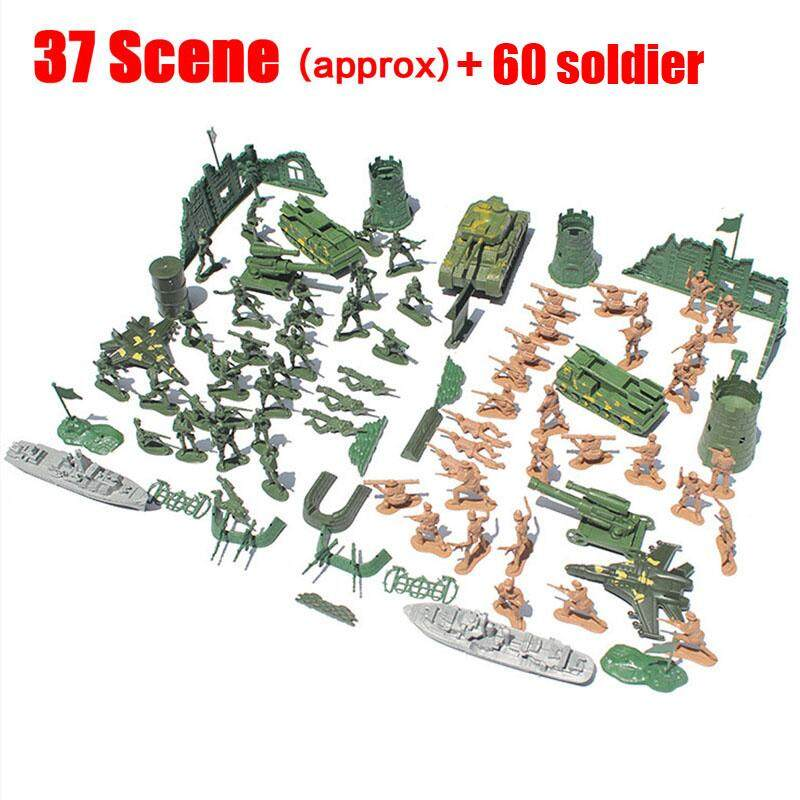 54 Scence / 37 Scence 60 Soldiers Army Military Model Diy War Scene For Chirdren By Autoleader.