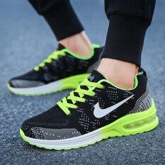 Giày thể thao nam chất vải lưới thoáng khí + đế cao su chống trơn trượt êm chân phong cách Hàn Quốc năng động trẻ trung – INTL